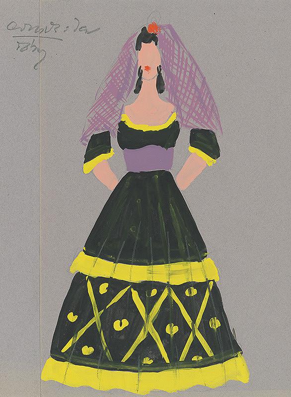 18e265582212 Eugen Nevan - Návrh na ženský kostým IX.