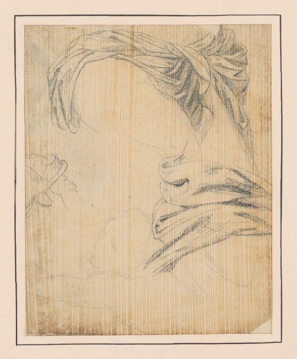 Francúzsky maliar z 18. storočia – Štúdia látky