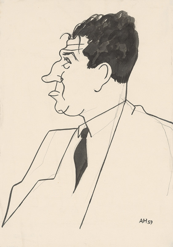 Adolf Hoffmeister – Karikatúrna kresba Viliam Šalgovič