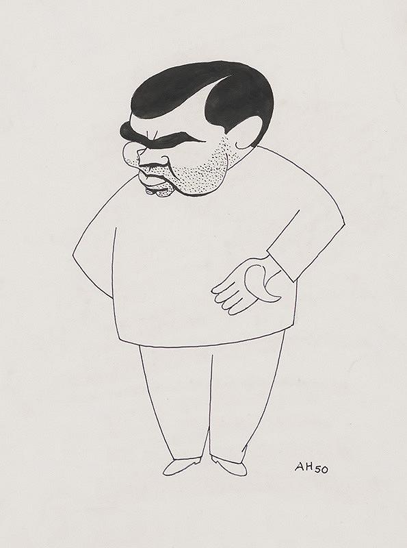 Adolf Hoffmeister – Karikatúrna kresba Hajdu