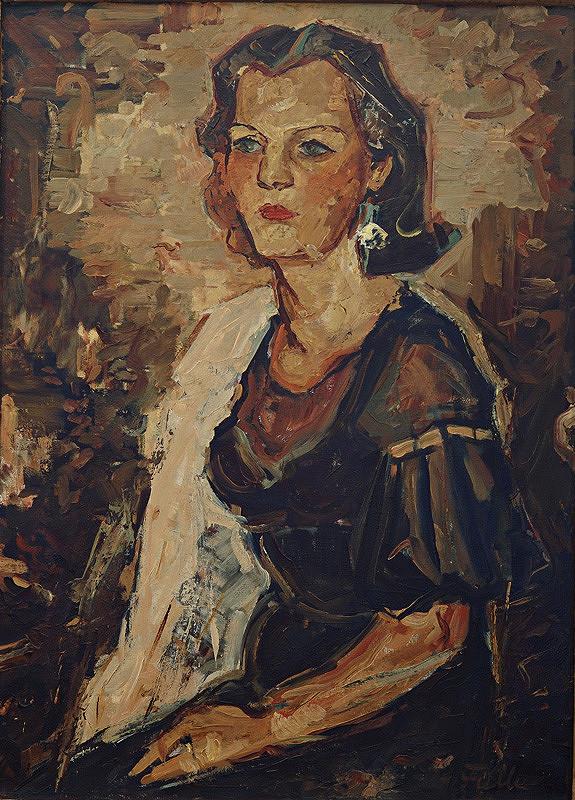 Ľudovít Fulla – Podobizeň umelcovej manželky