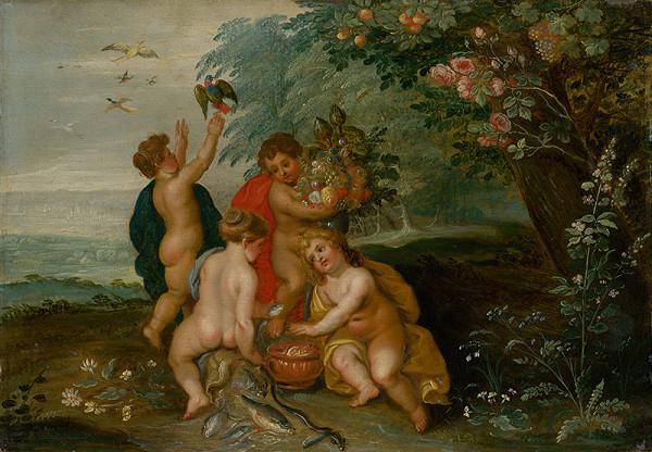 Jan Brueghel st., Hendrik van Balen I., Jan van Balen – Alegória štyroch elementov
