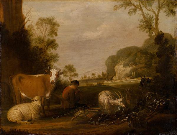 Claes Cornelisz. Moeyaert – Muzicírujúci pastier