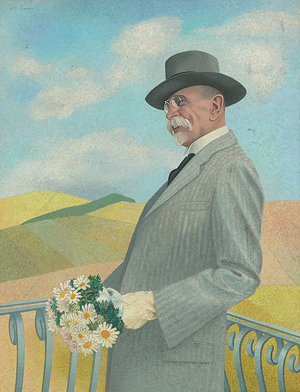 Ester Šimerová-Martinčeková - Portrét T.G.Masaryka