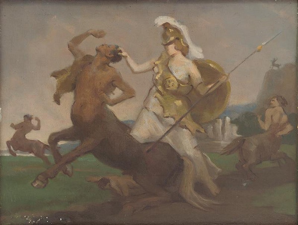 Milan Thomka Mitrovský – Palas Athenae v boji proti kentaurom
