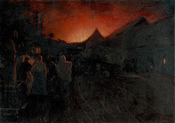 Dominik Skutecký – Požiar v Radvani