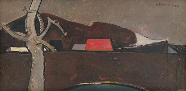Vincent Hložník – Krajina s červenou strechou