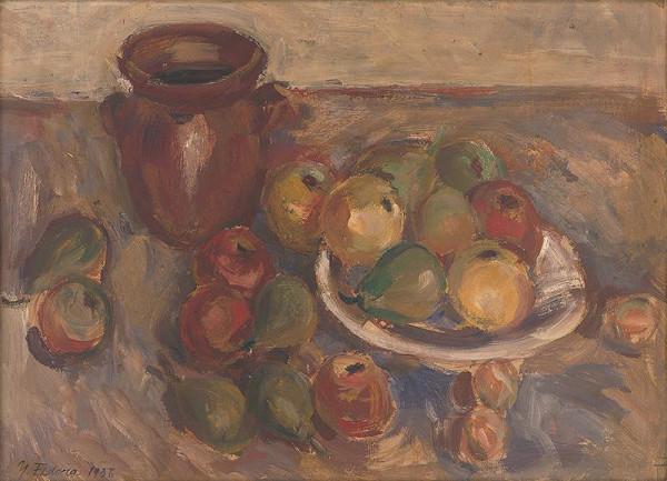 Jozef Fedora - Zátišie s jabĺčkami