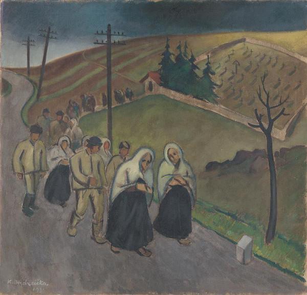Karol Ondreička - Z pohrebu