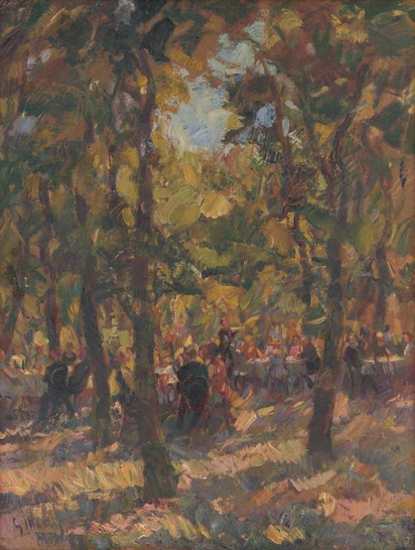 Gustáv Mallý – Pod stromami