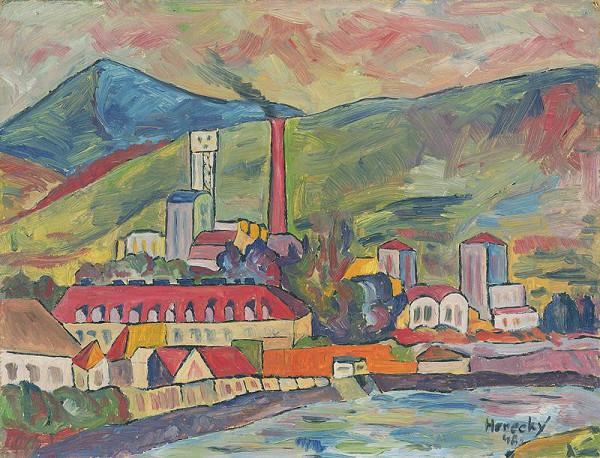 Zdeno Horecký - Krajina s továrňou