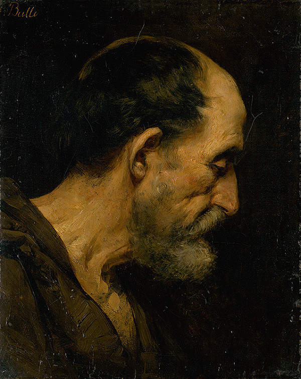 Eduard Ballo – Štúdia hlavy starca
