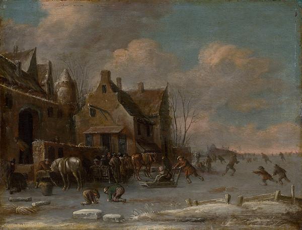 Thomas Heeremans – Pred krčmou v zime