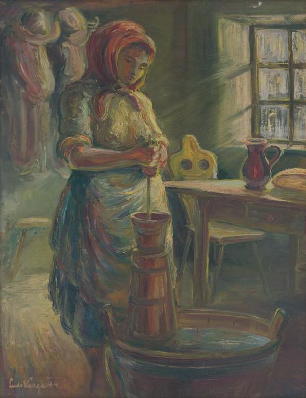 Ľudovít Varga – Pri mútení masla