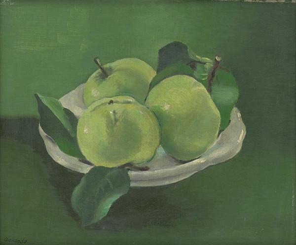 Mikuláš Galanda - Zátišie s jabĺčkami