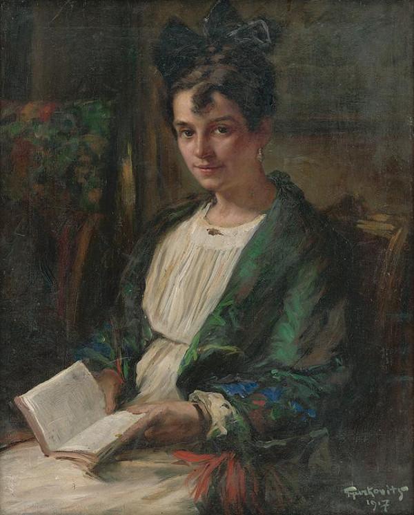 František Gyurkovits – Čítajúce dievča