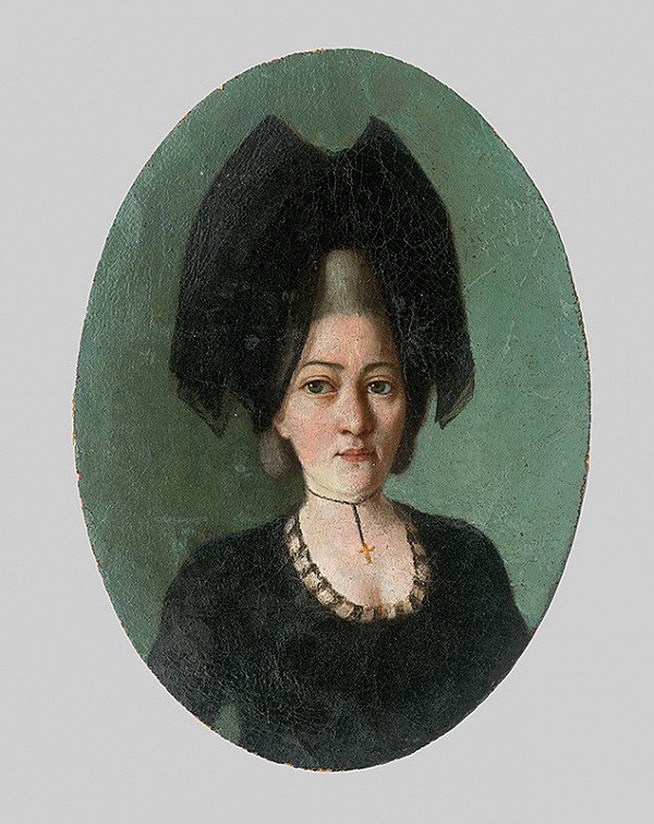 Stredoeurópsky maliar z 19. storočia - Podobizeň ženy v čiernom