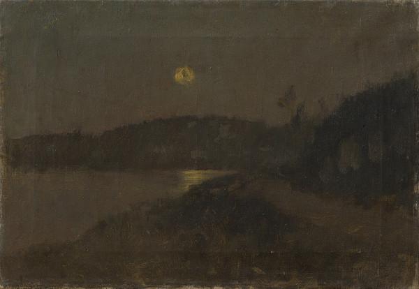 Ladislav Mednyánszky - Mesačná noc pri rieke