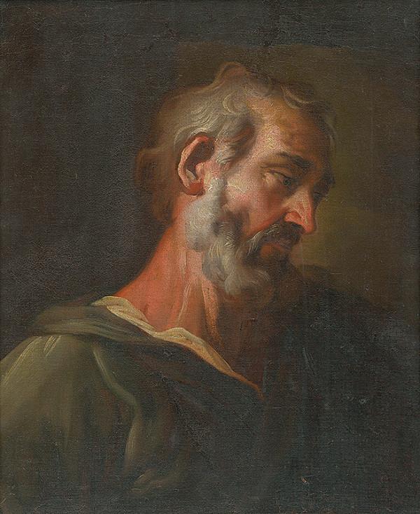 Neznámy stredoeurópsky maliar – Štúdia hlavy - poprsie- apoštola