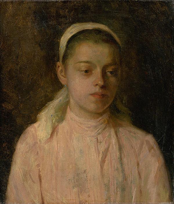 Ľudovít Čordák - Štúdia hlavy sedliackeho dievčaťa