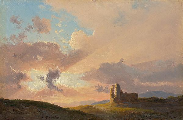 Karol Marko st. – Ruina pri západe slnka