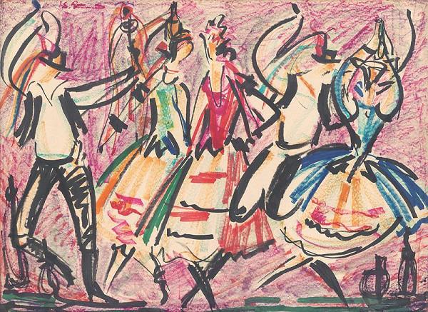 Sibylla Greinerová – Oslava práce - žatevný tanec
