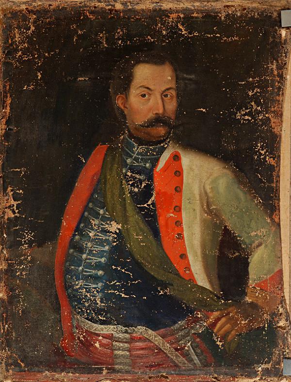 Slovenský maliar z 1. polovice 18. storočia, Neznámy maliar – Podobizeň zemana v bielej mentienke