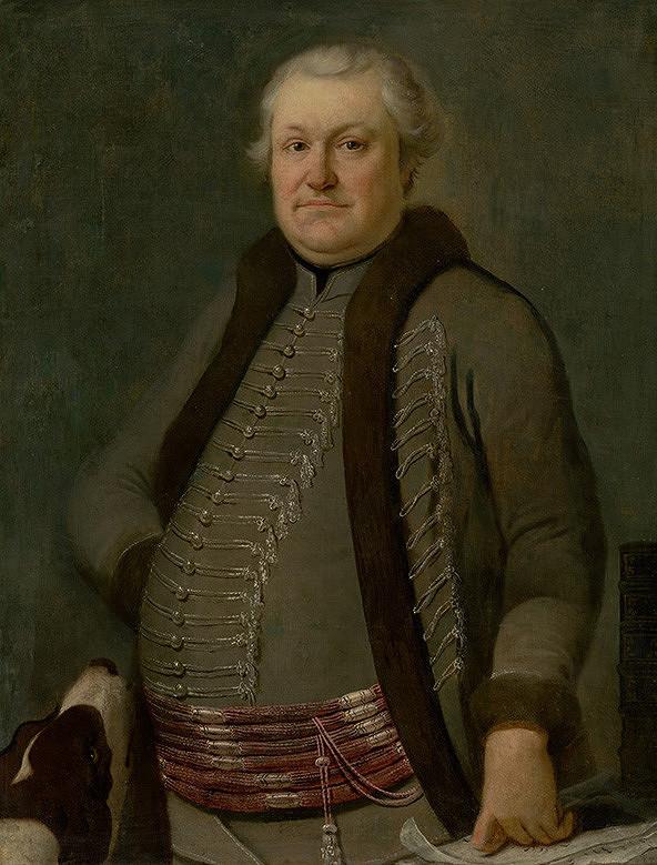 Slovenský maliar z 1. polovice 18. storočia, Neznámy maliar – Podobizeň zemana so psom