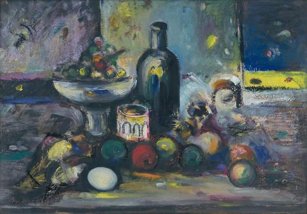 Ján Mudroch – Zátišie s fľašou