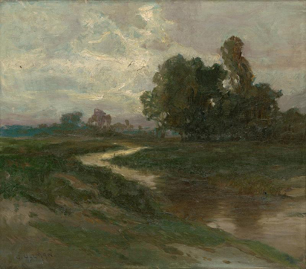 Josef Ullmann – Nočná krajina s potokom