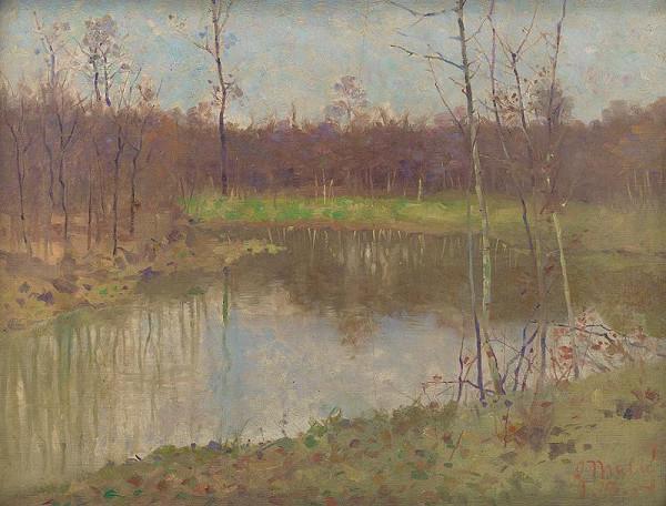Gustáv Mallý – Krajina s rybníkom