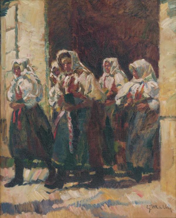 Gustáv Mallý – Z kostola