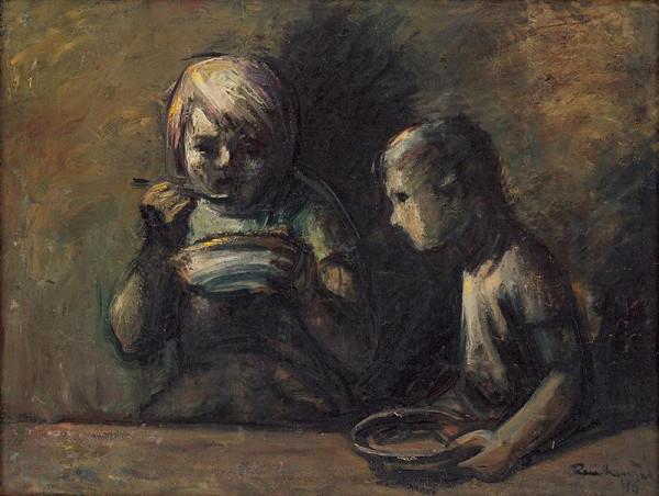 František Reichentál - Deti za stolom