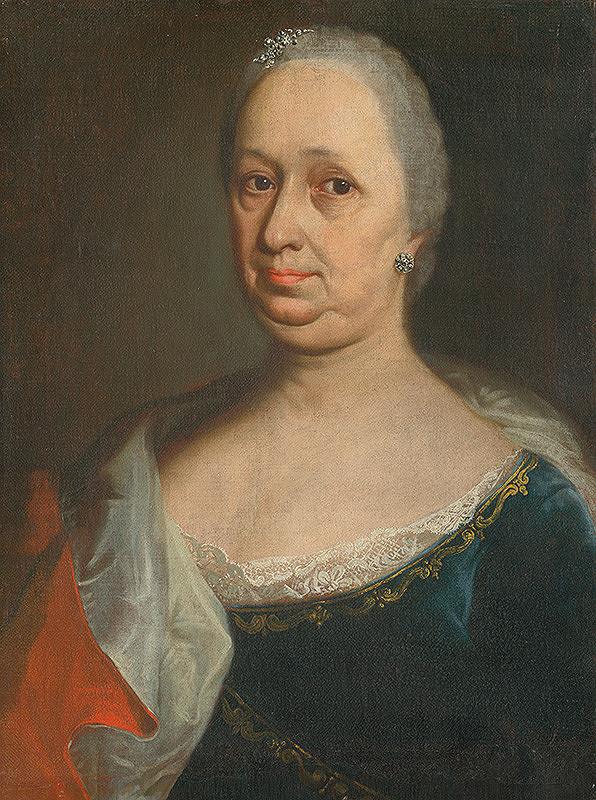 Slovenský maliar z konca 18. storočia, Neznámy maliar – Podobizeň dámy so striebornými náušnicami