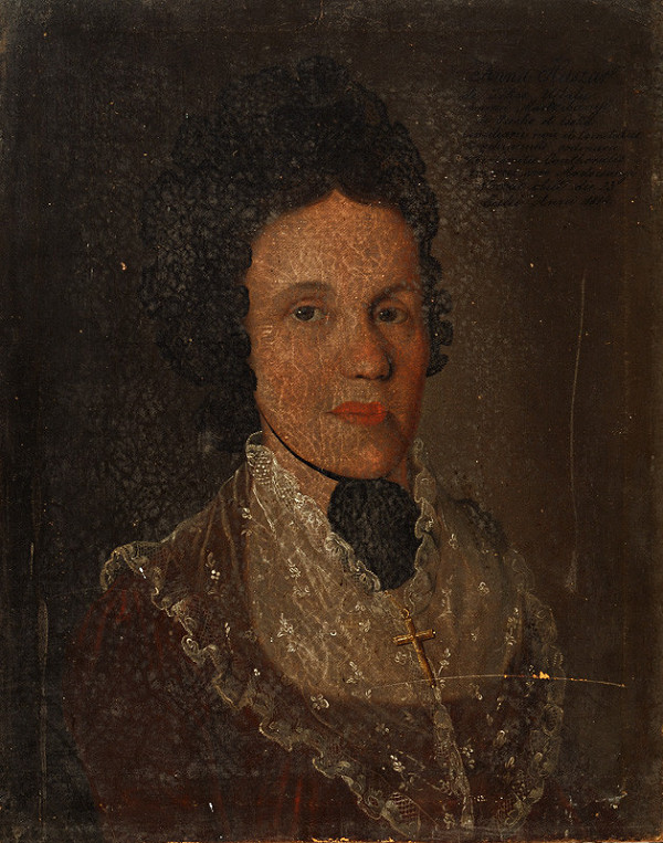 Východoslovenský maliar zo začiatku 19. storočia - Podobizeň Anny Huszárovej