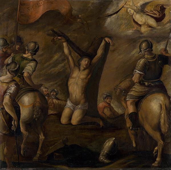 Taliansky maliar zo 17. storočia - Mučenie svätého Sebastiána
