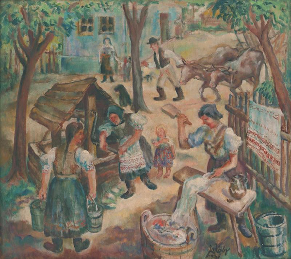 Július Jakoby – Práca pri studni