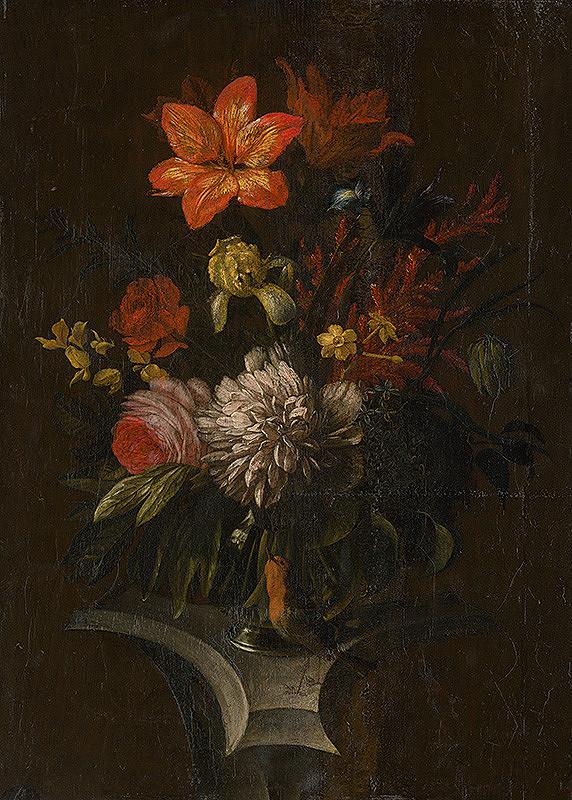 Stredoeurópsky maliar zo 17. storočia, Holandský maliar zo 17. storočia - Zátišie s kvetmi