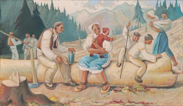 Karol Ondreička - Odpočinok drevorubačov