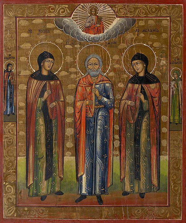 Ruský ikonopisec – Traja svätci - ikona