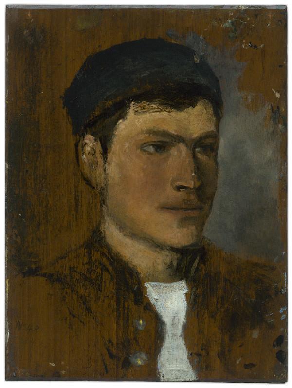 Ladislav Mednyánszky - Mladý muž s bielou kravatou
