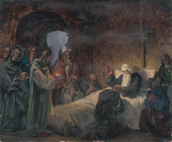 Andrej Kováčik – Štúdia k obrazu Svätopluk sa lúči so svojimi synmi