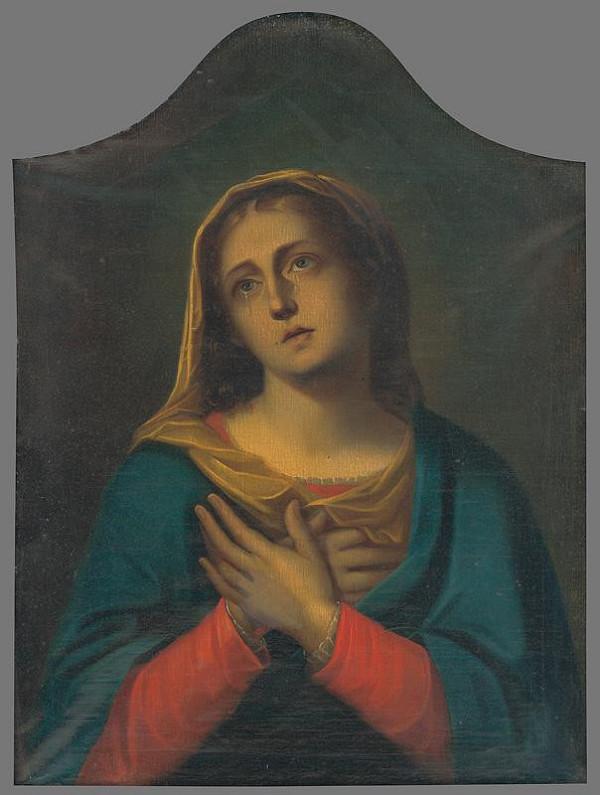 Slovenský maliar z 19. storočia - Panna Mária