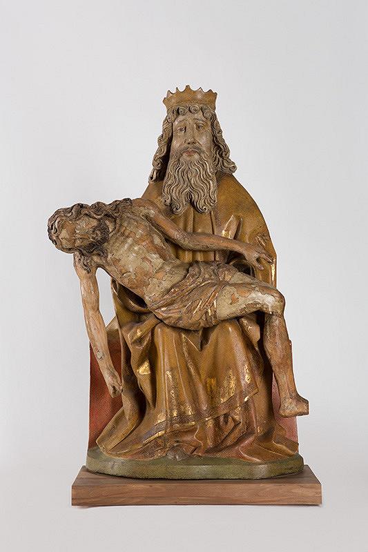 Slovenský rezbár 1470-1480 – Sediaci Boh-Otec