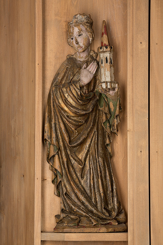 Slovenský rezbár zo začiatku 15. storočia, Majster Madony z Lomničky – Svätá Barbora mučenica