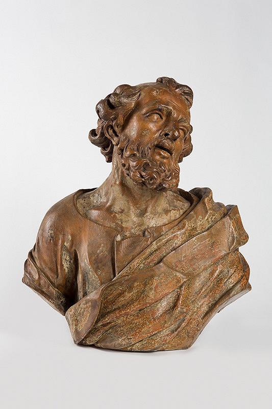 Georg Raphael Donner, Neznámy sochár, Slovenský sochár okolo 1730 - Hlava svätca