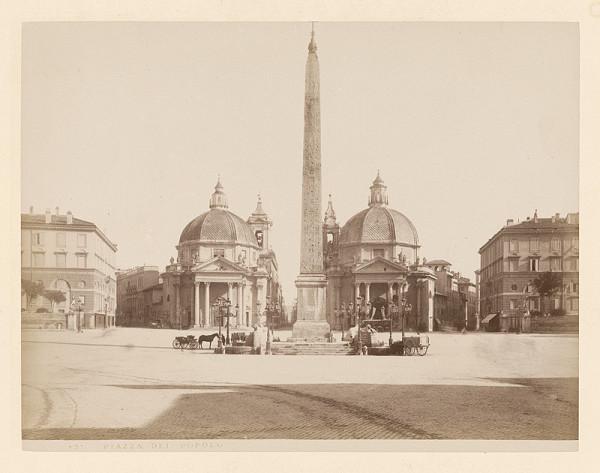 Neznámy autor – Rím. Námestie del Popolo (Piazza del Popolo)