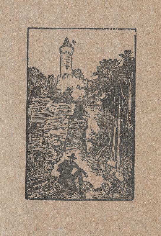 Jaroslav Vodrážka – Krajina s hradnou vežou