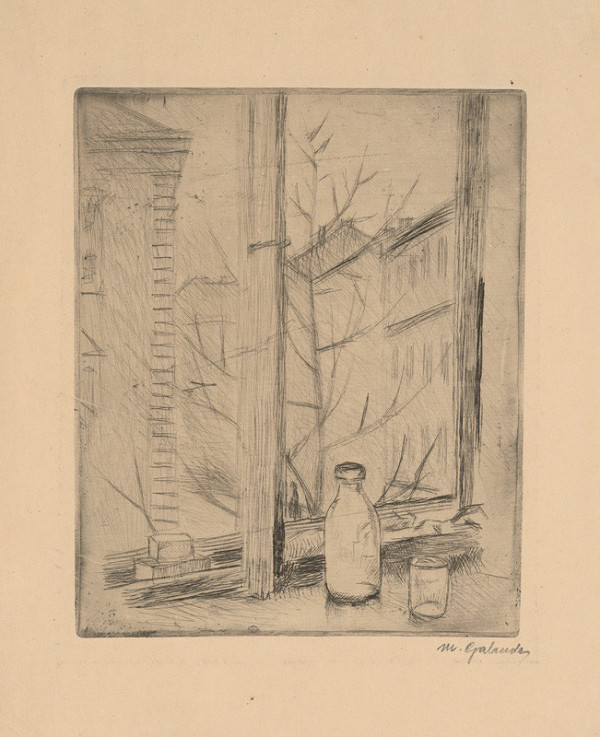 Mikuláš Galanda – Za oknom