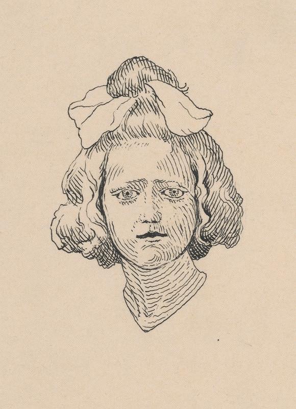 Mikuláš Galanda – Hlava dievčaťa s mašľou